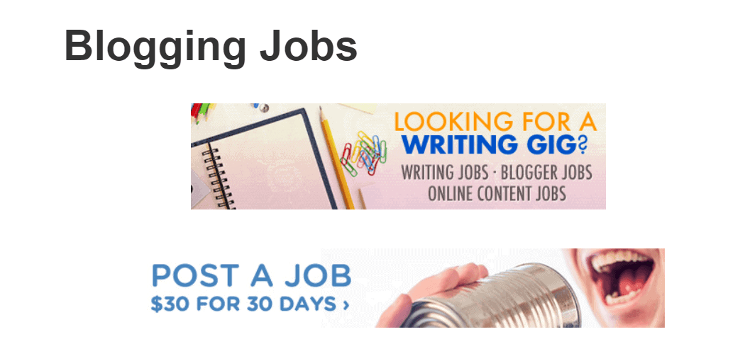 work from home writing and find jobs on the blogging jobs board