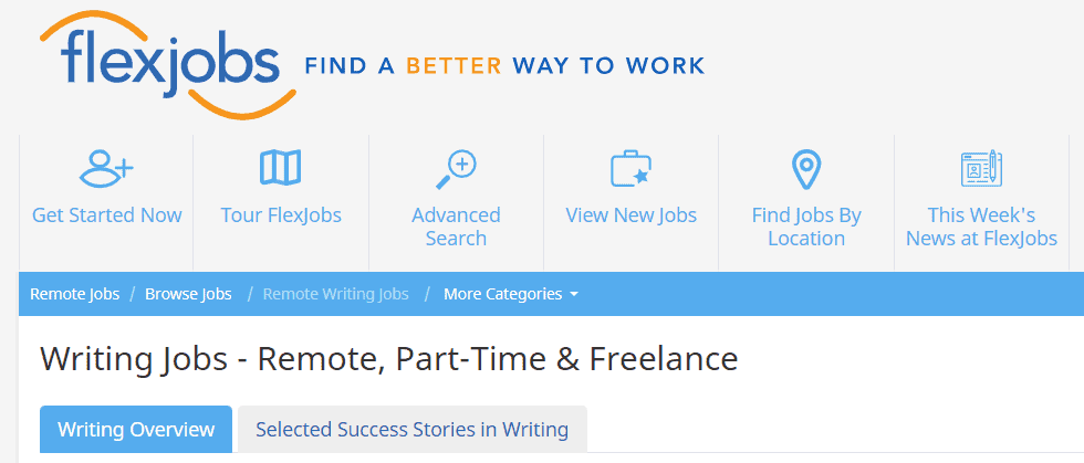 flexjobs is a great place to find work from home writing opportunities