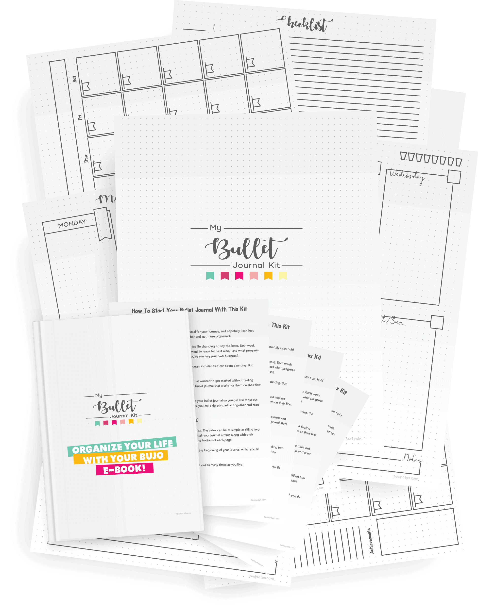 bullet journal starter printable kit for beginners