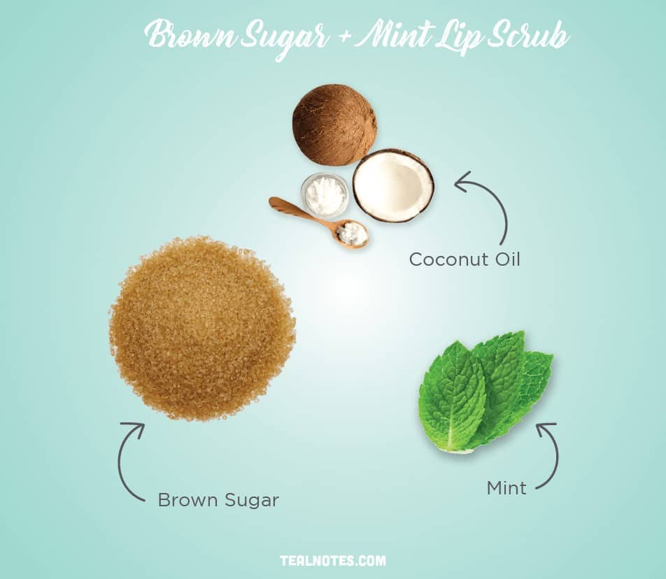 DIY Lip Scrub, Best DIY Homemade Lip Scrub, Brown Sugar + Mint Lip Scrub