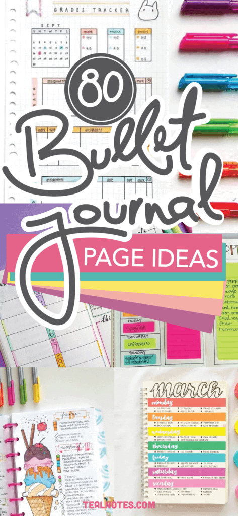 Bullet Journal Page Ideas