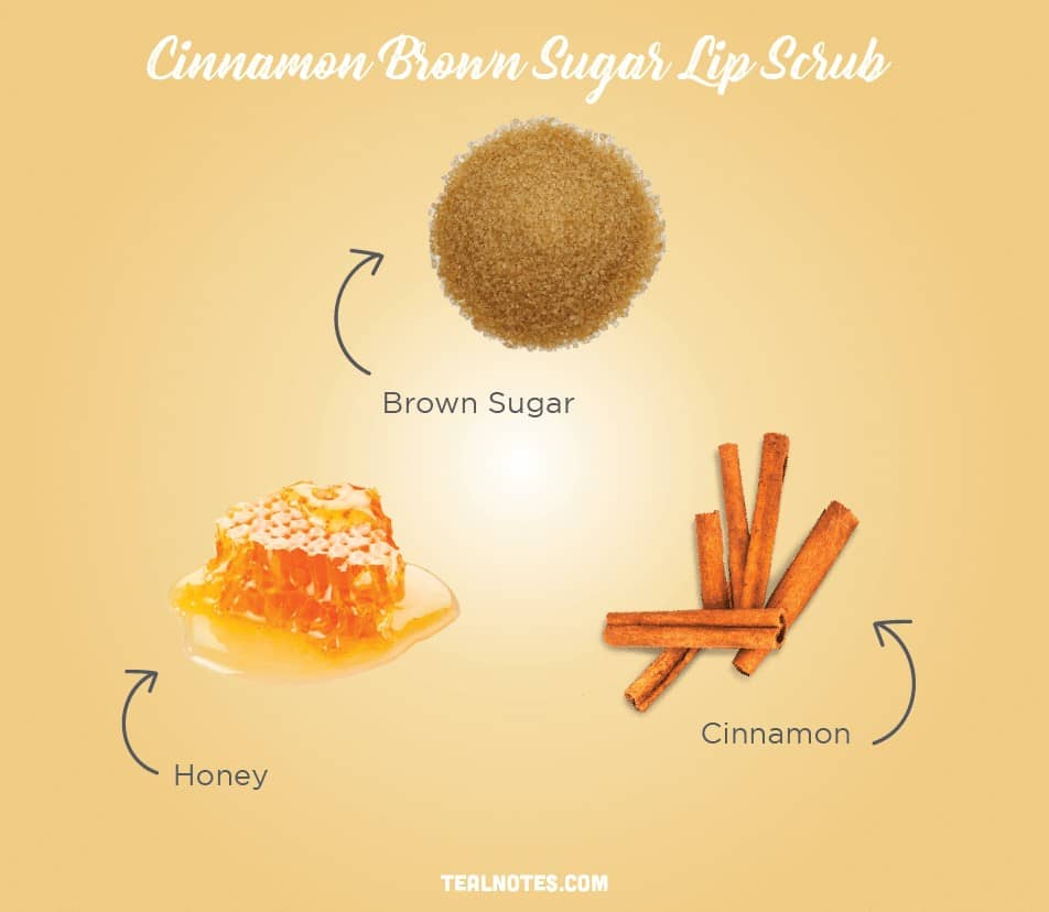 DIY Lip Scrub, Best DIY Homemade Lip Scrub, Cinnamon Brown Sugar Lip Scrub