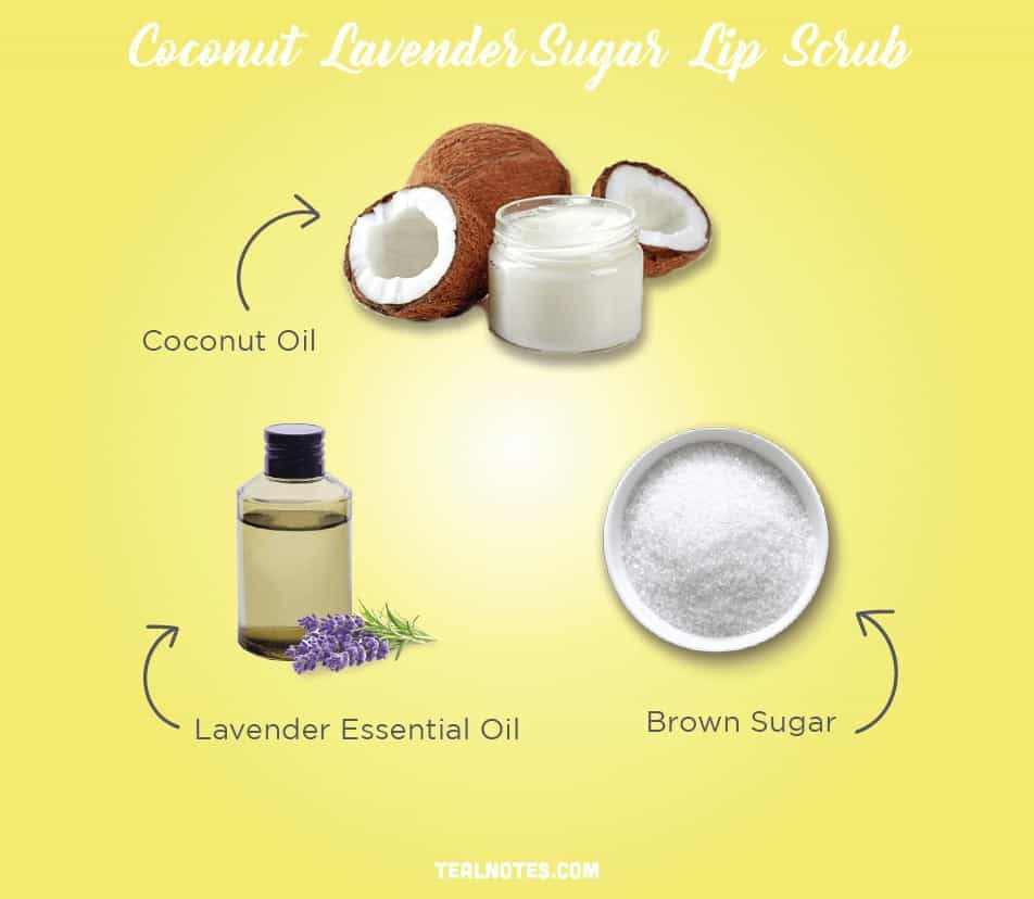 DIY Lip Scrub, Best DIY Homemade Lip Scrub, Coconut Lavender Sugar Lip Scrub