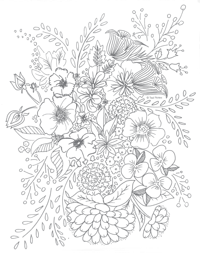 Free printable coloring pages, flower coloring page