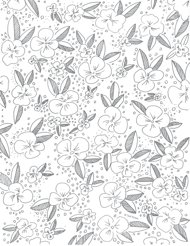 free adult coloring pages, flower print coloring page you can print at home