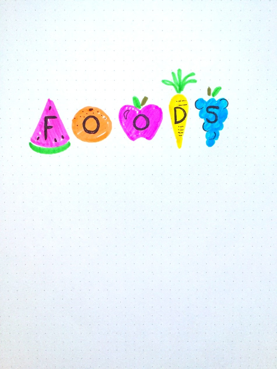 fruit BUJO font idea
