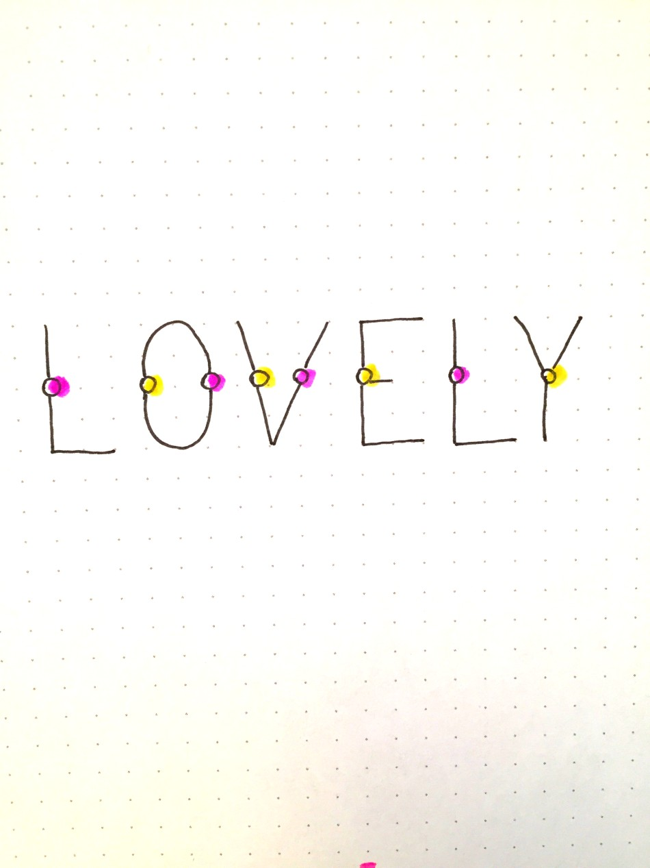 lollipop letter font for your bullet journal spreads