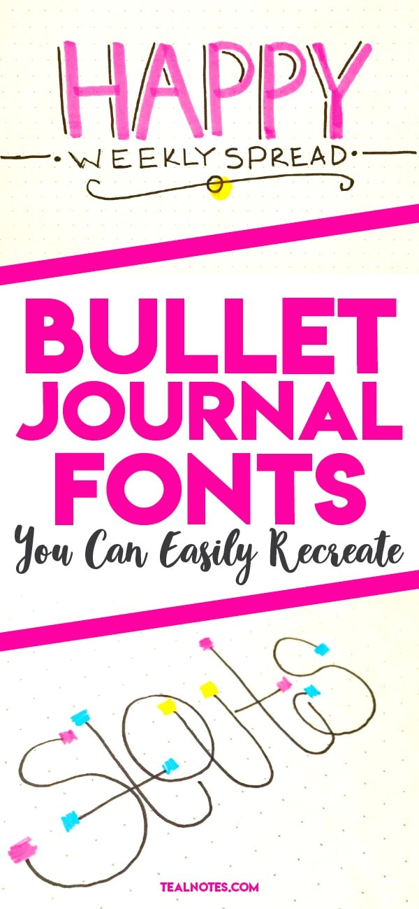 Bullet journal fonts you can easily recreate for your own journal