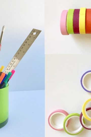 DIY washi tape ideas, pencil holder