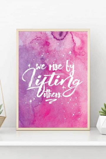 Free printable wall art quote, free printables