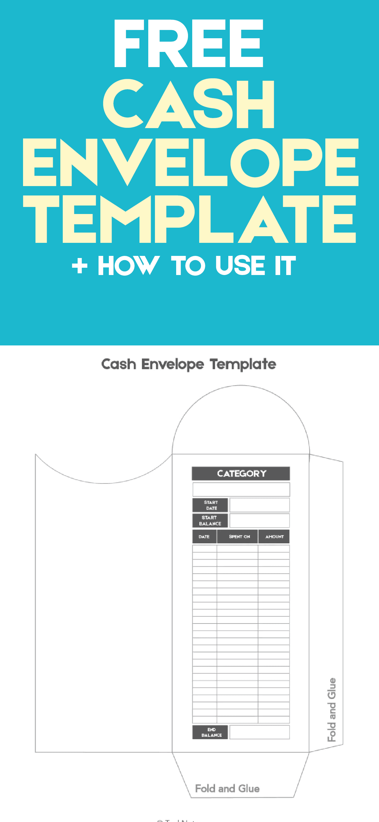 how to use the cash envelope template