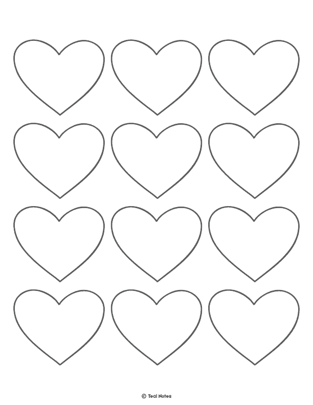 Heart Template: Free Printable Heart Cut Out Stencils And Coloring Page, heart cut out