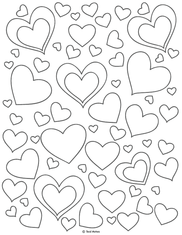 Heart Template: Free Printable Heart Cut Out Stencils And Coloring Page