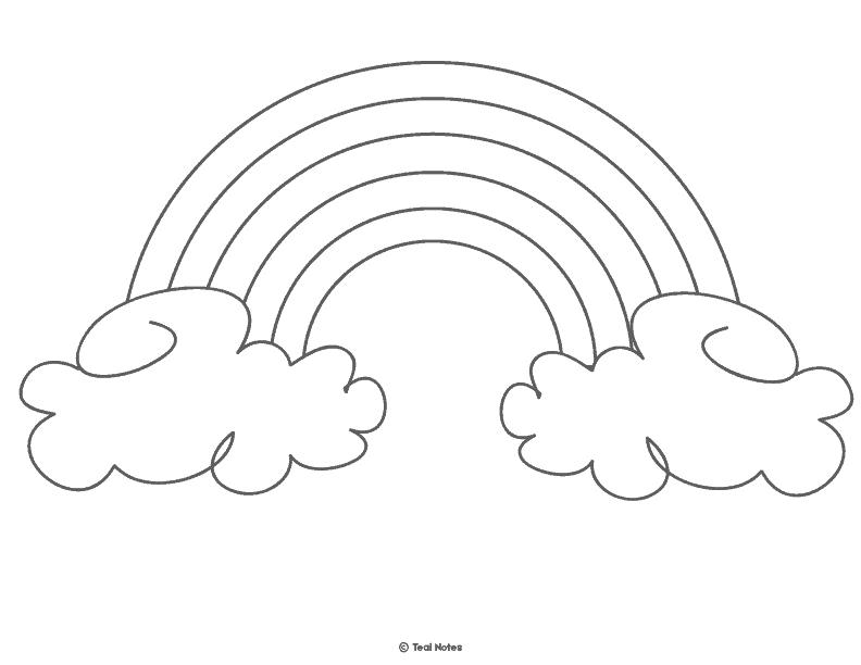 rainbow template. free printable rainbow template