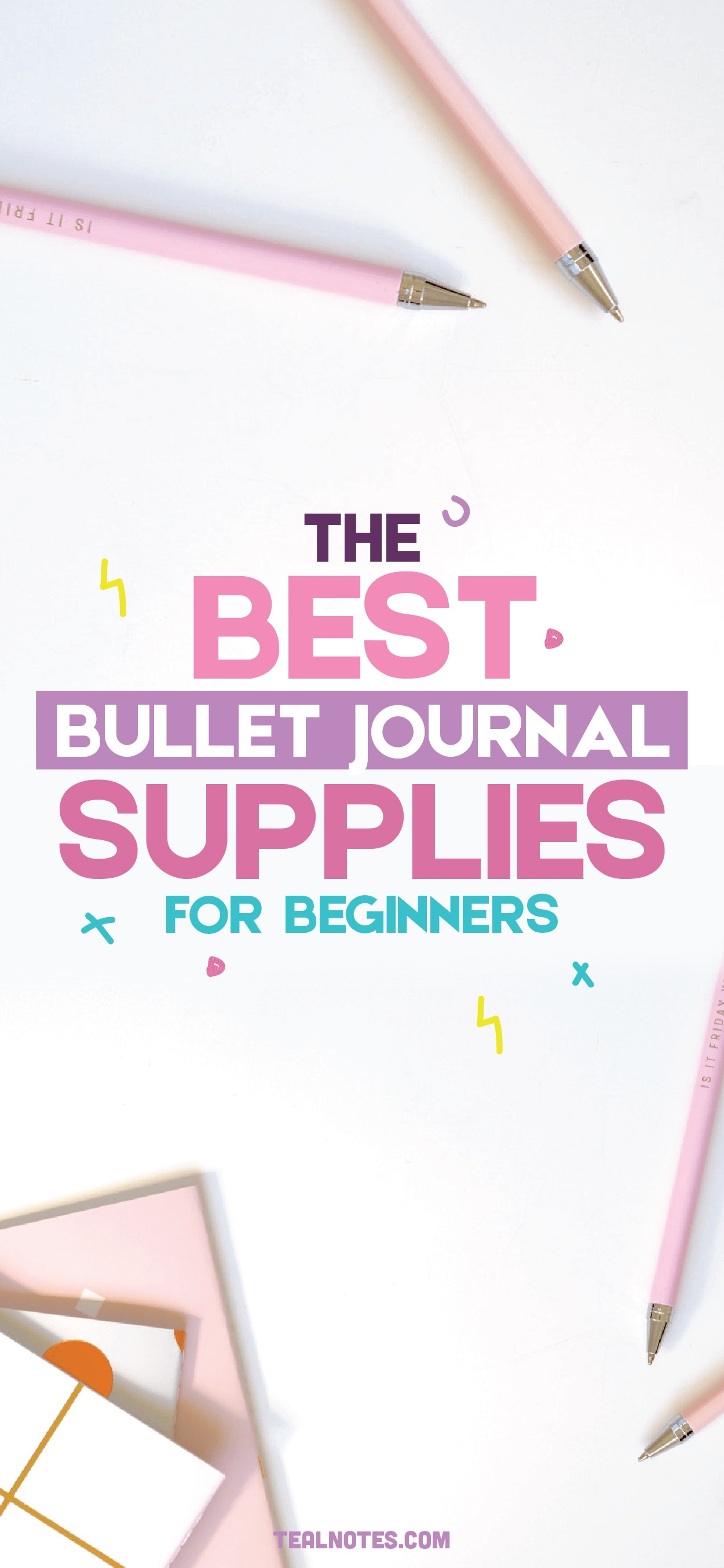 best bullet journal supplies for beginners, the best bullet journal notebook and pens