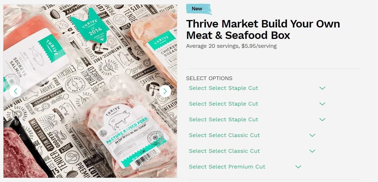 get cheap organic meat through thrive market