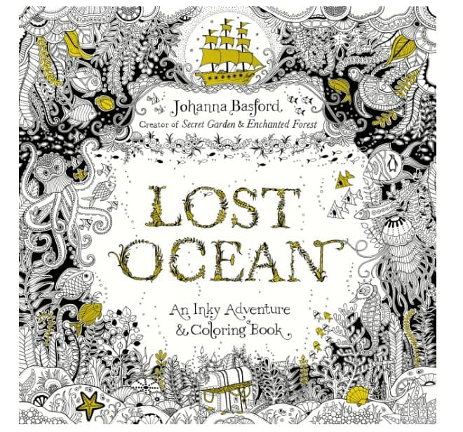 best adult coloring books, lost ocean
