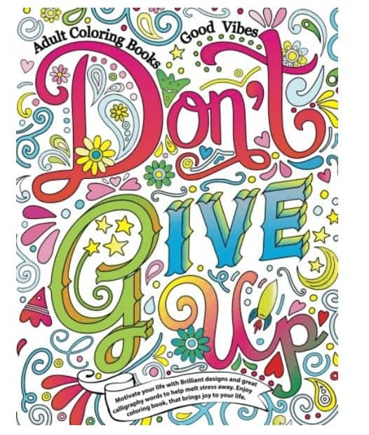 best adult coloring books with quotes