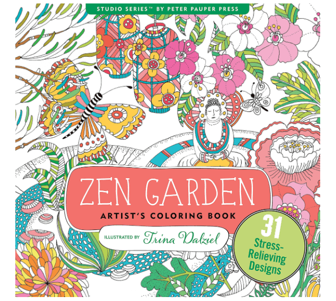 best adult coloring books, zen garden