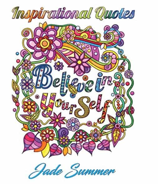 best adult coloring quotes book