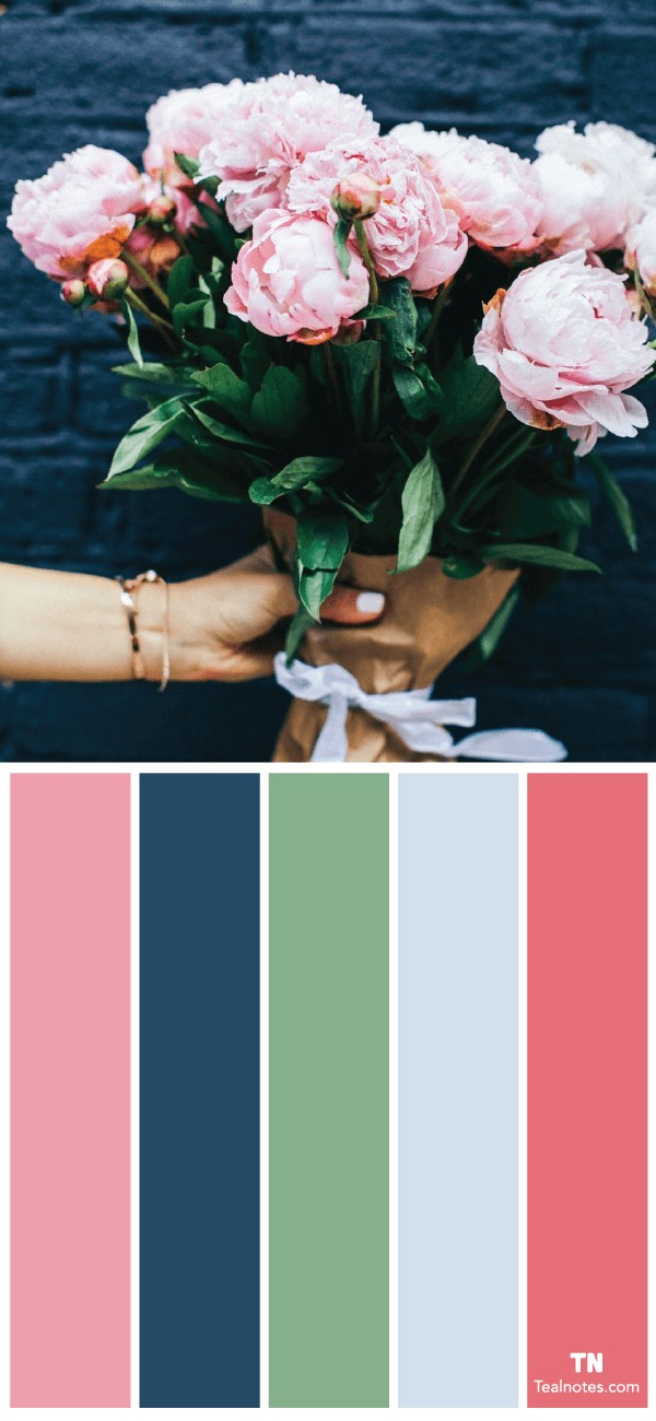 Color Palette Ideas for a flower arrangement