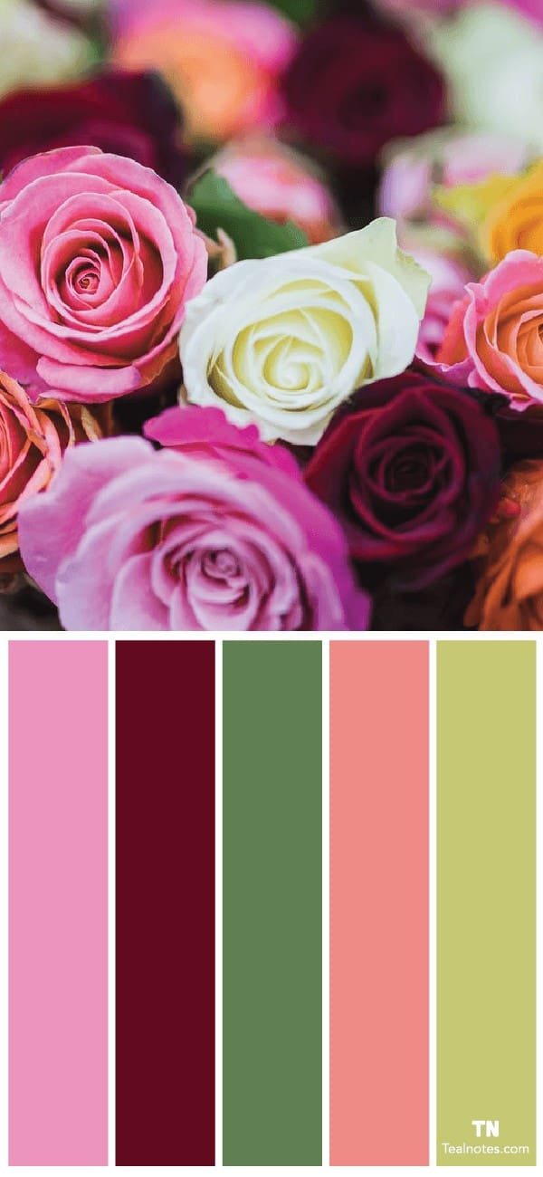 flower color palette ideas