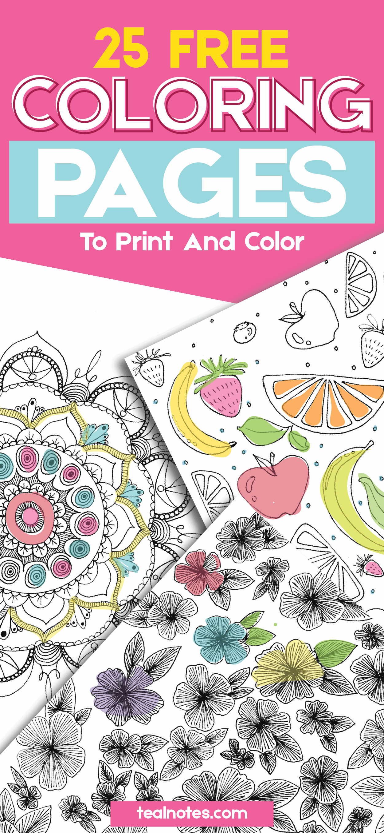 free adult coloring pages to print and color to de-stress and relax that are perfect for mindfulness and self care