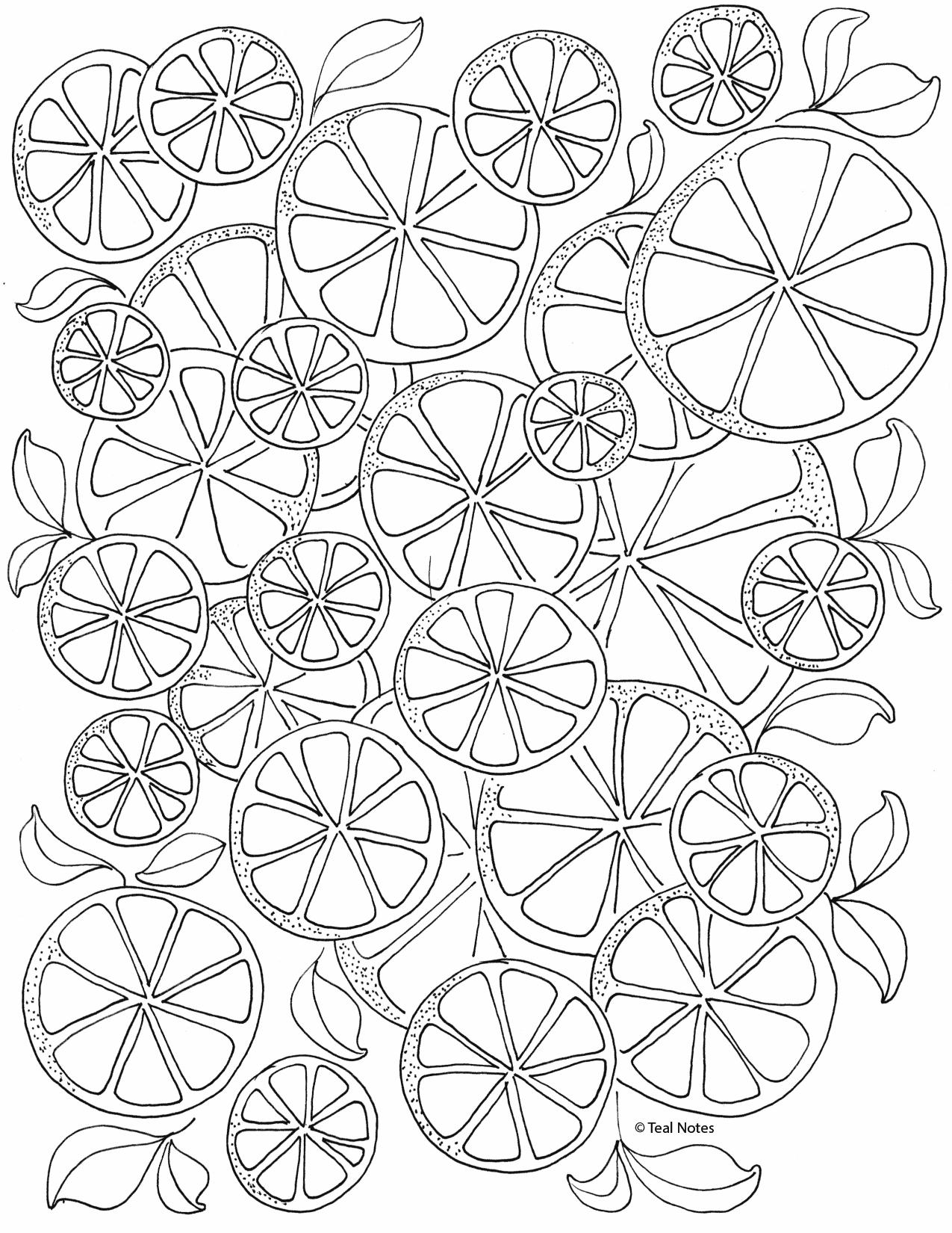 free lemons coloring page