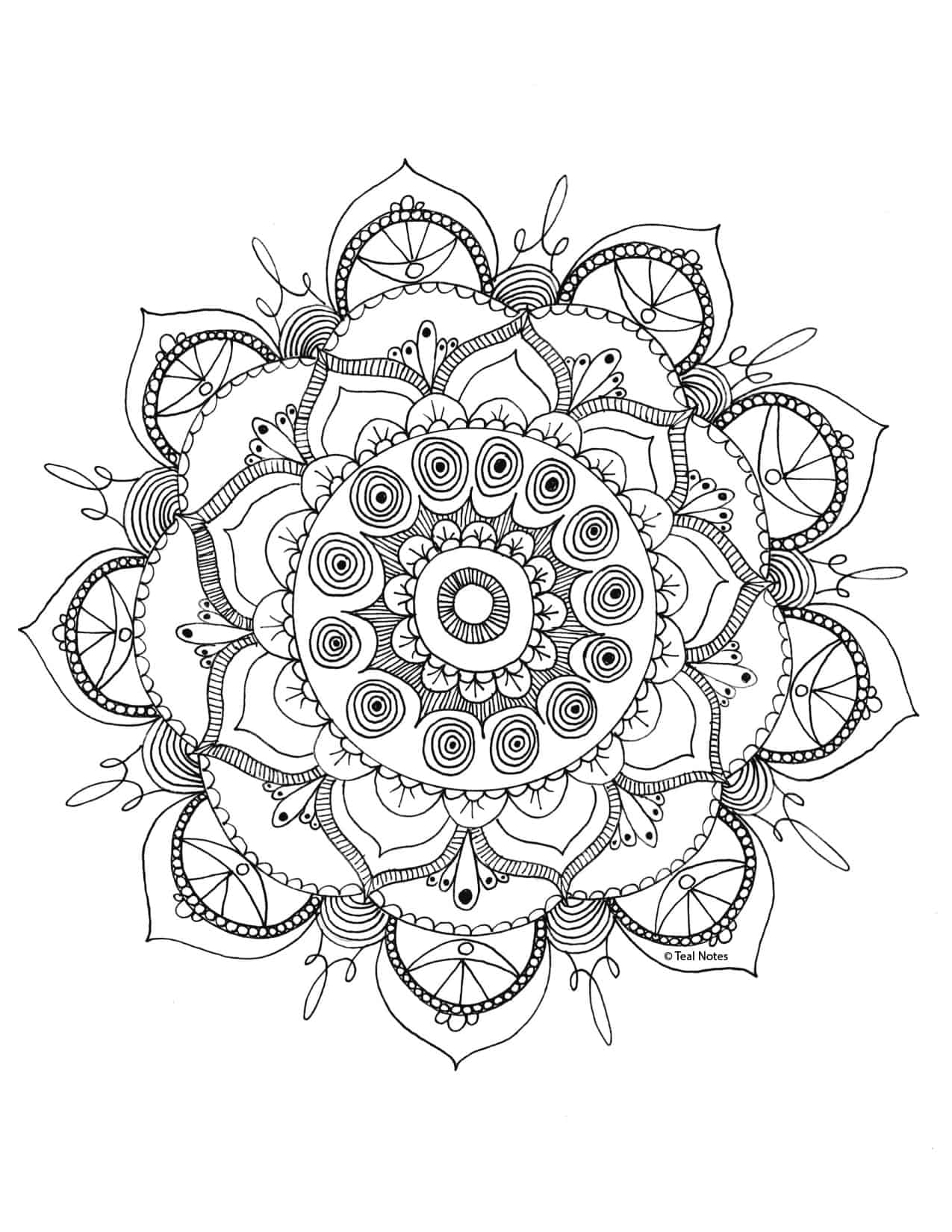 free mandala coloring page you can print and color