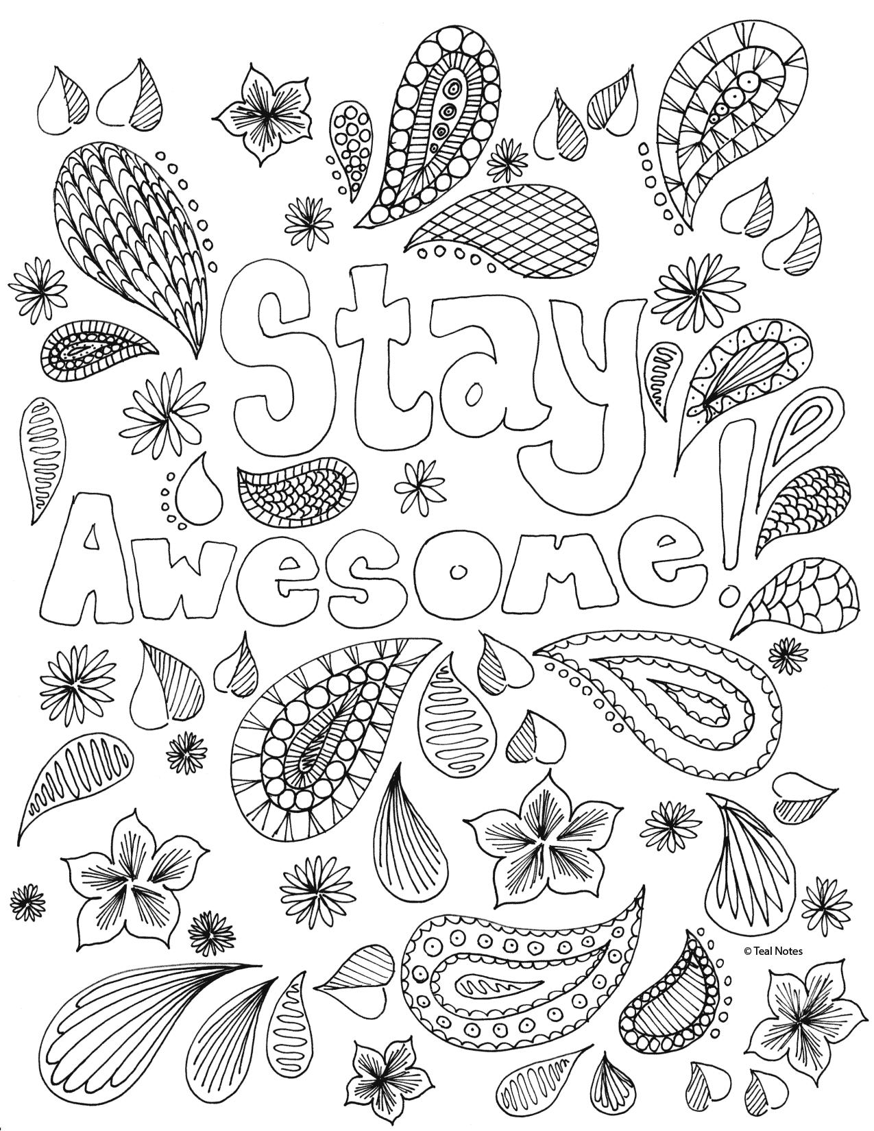 free quote coloring page for self care