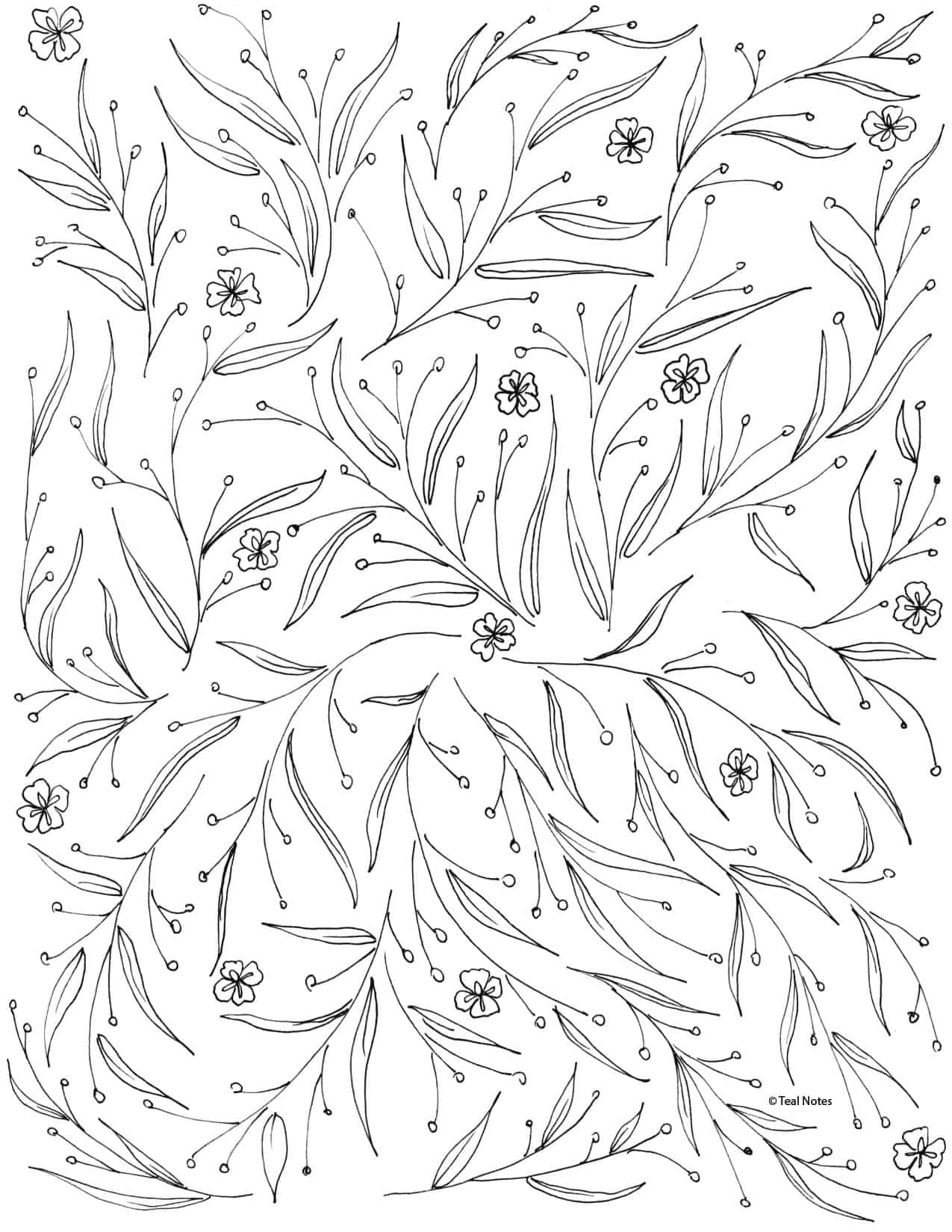 free coloring page to print and color
