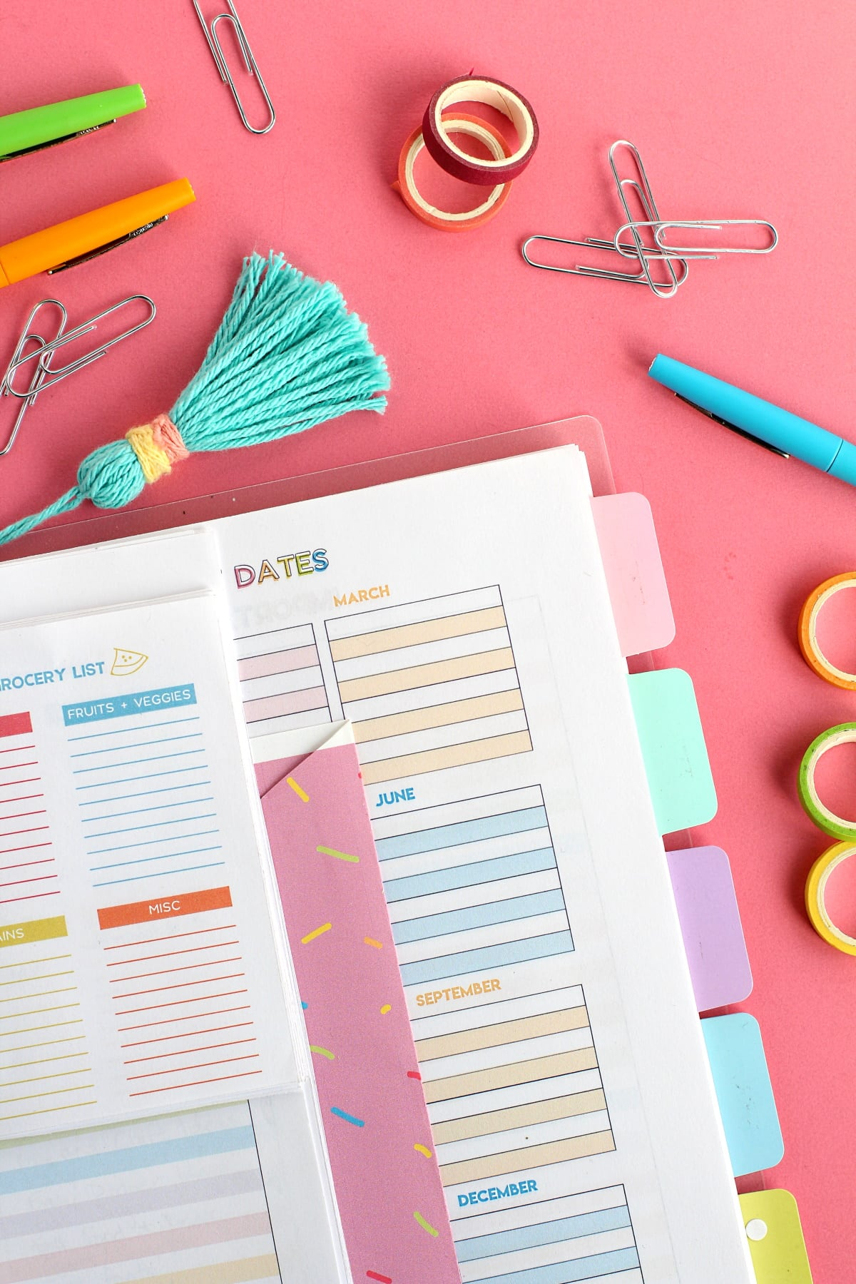 DIY Planner | printable planner pages | DIY home management planner