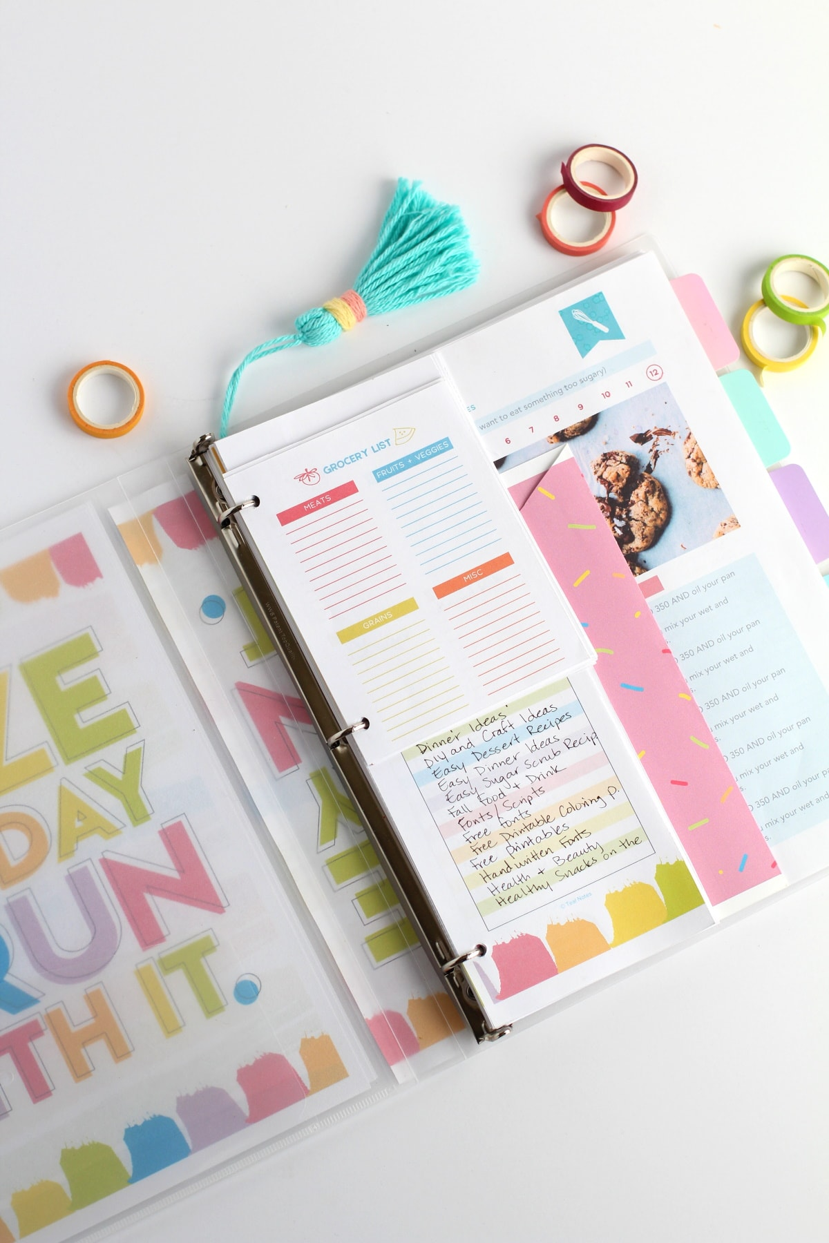 DIY planner, how to make a printable planner with planner templates and ideas