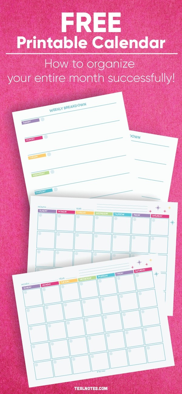 how to organize your month and get more done each week