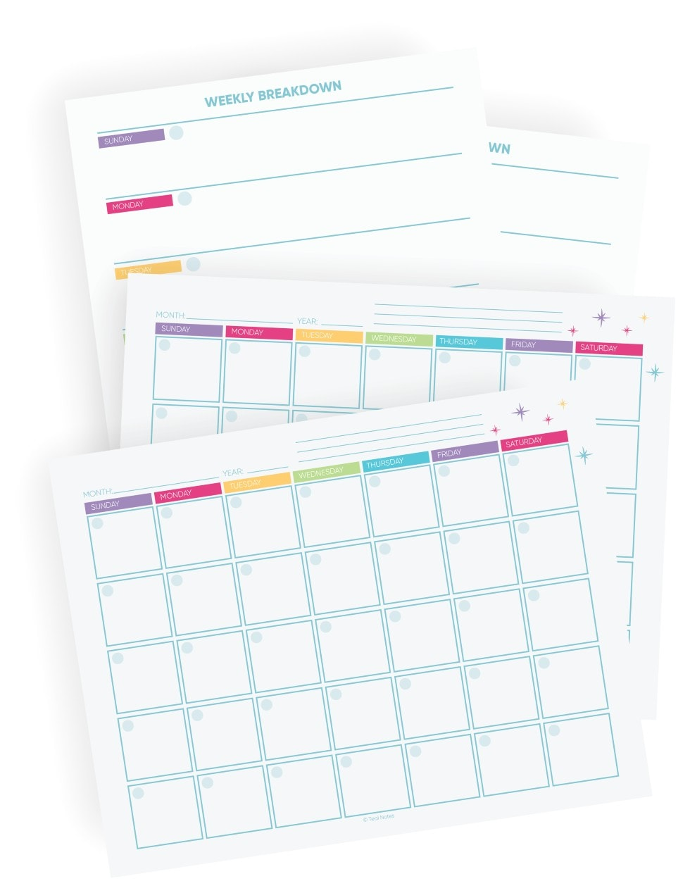 how to organize your month