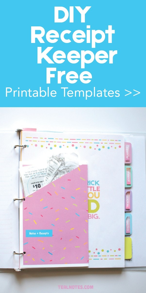 diy printable receipt organizer
