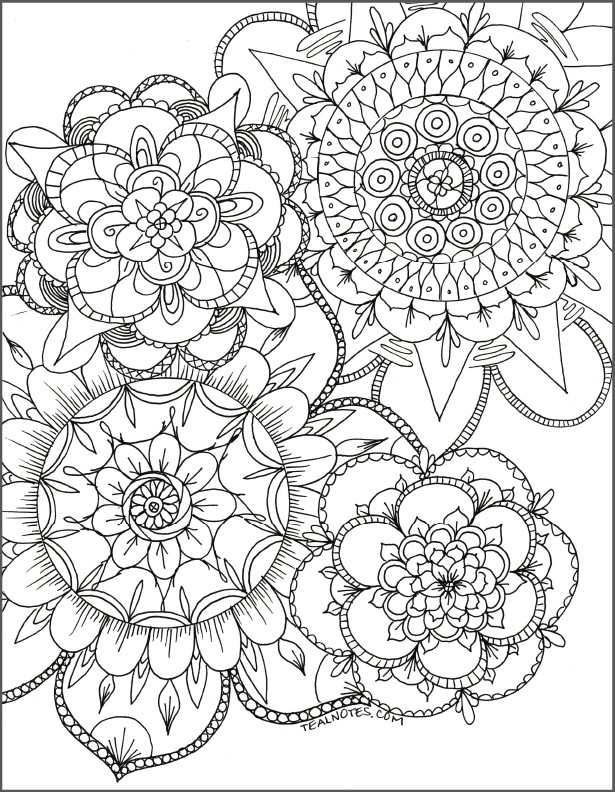 free mandala coloring page to print and download instantly for coloring - Free adult coloring page