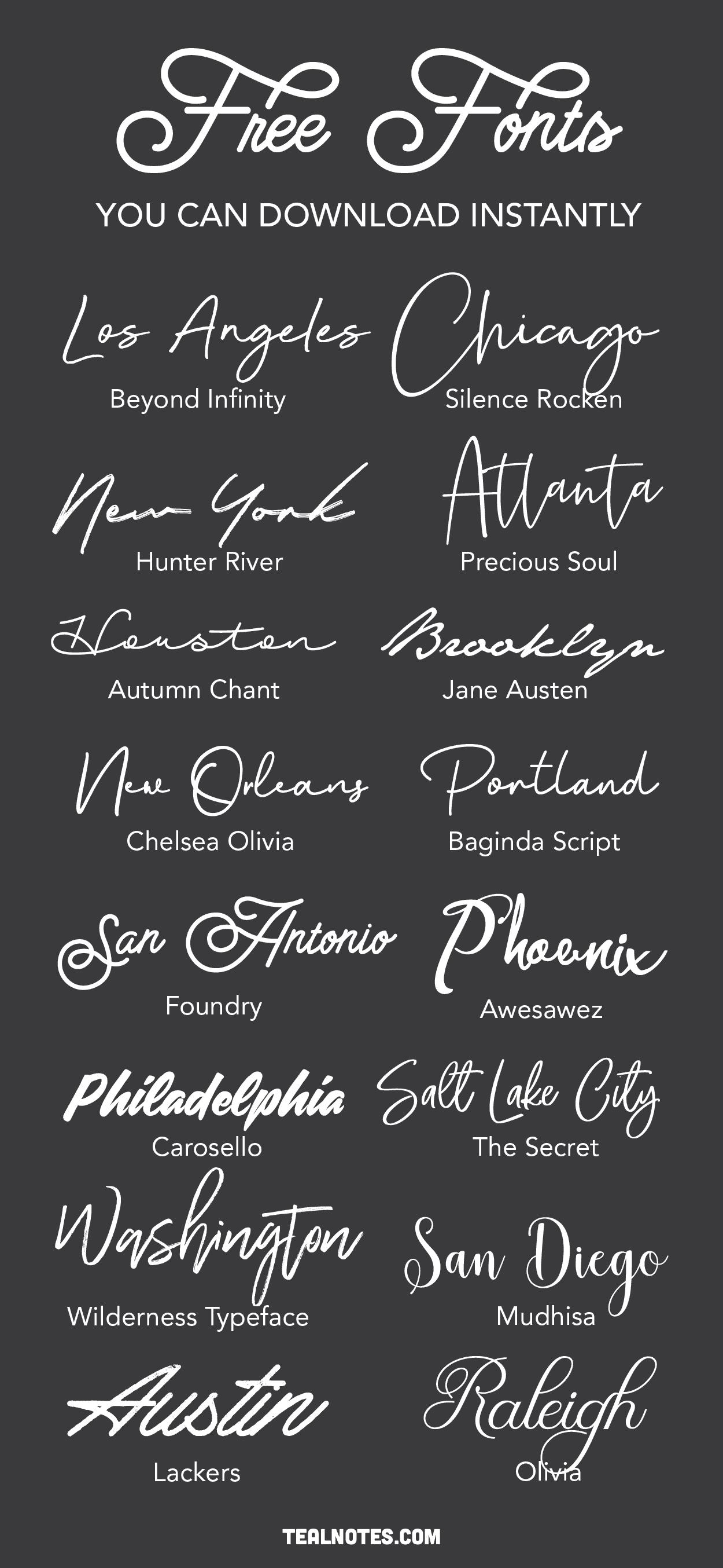 free fonts handwritten script fonts