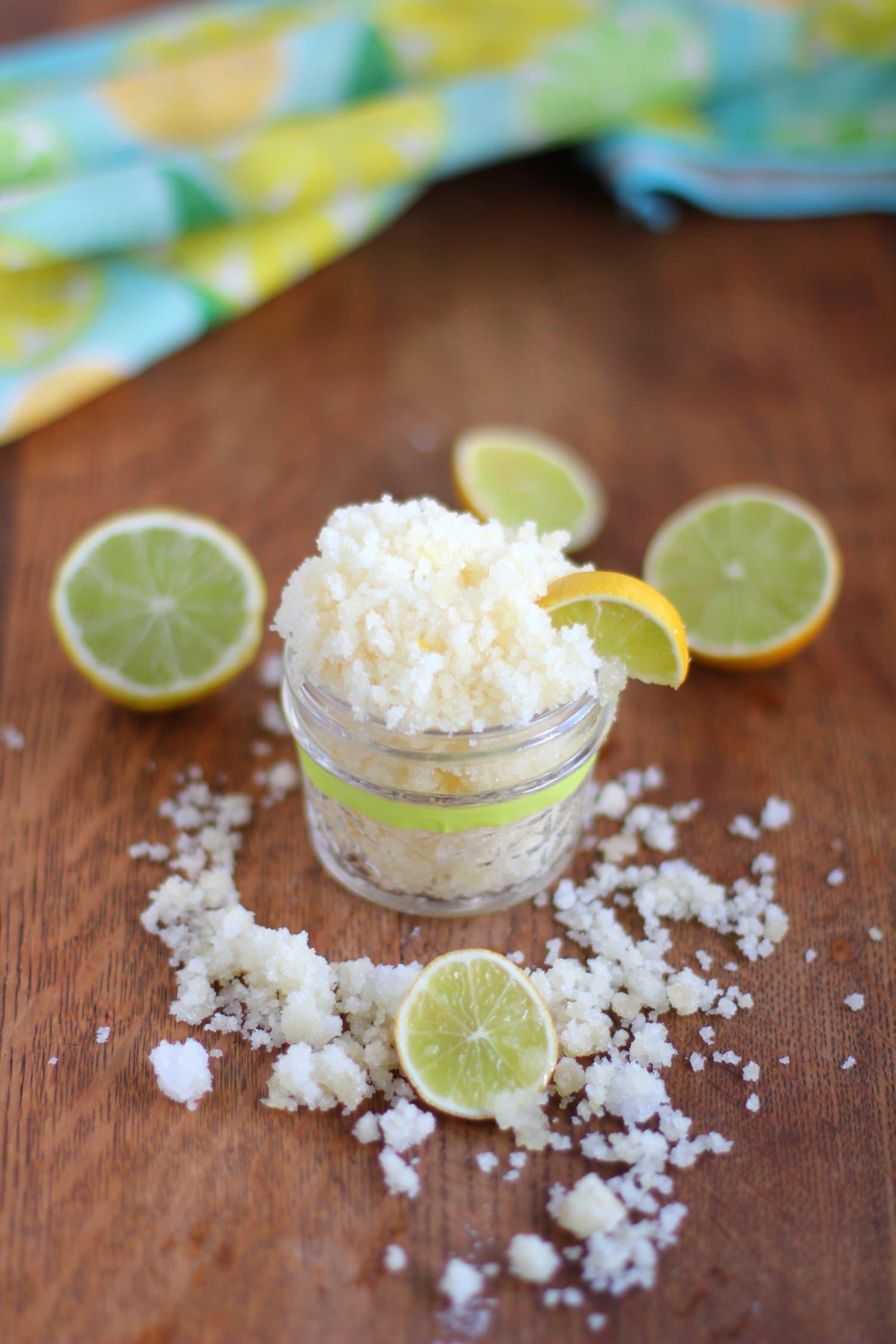 How to make coconut lime sugar scrub