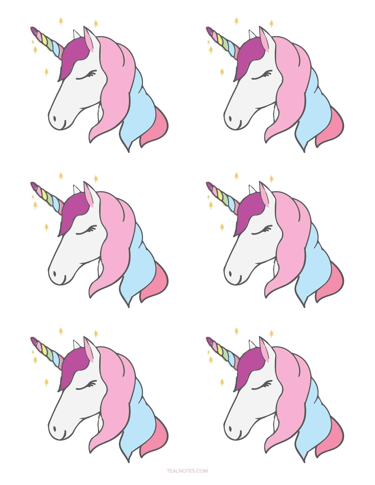 Unicorn template printable wallpaper