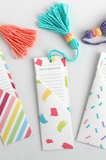 """DIY Bookmark template 