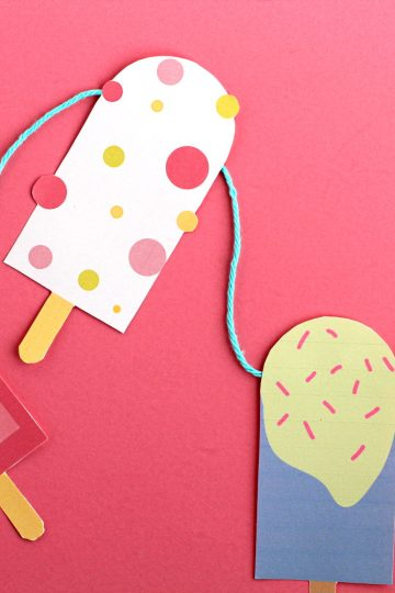 DIY popsicle garland with free printable template