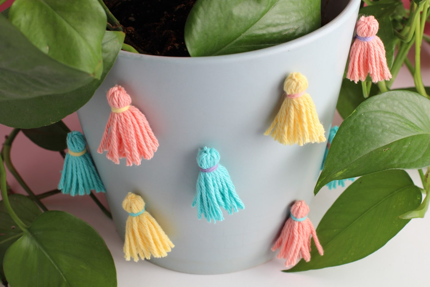DIY Tassel indoor Planter Idea | How to decorate your indoor plants