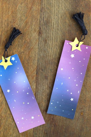 DIY Galaxy Bookmarks Printable Template