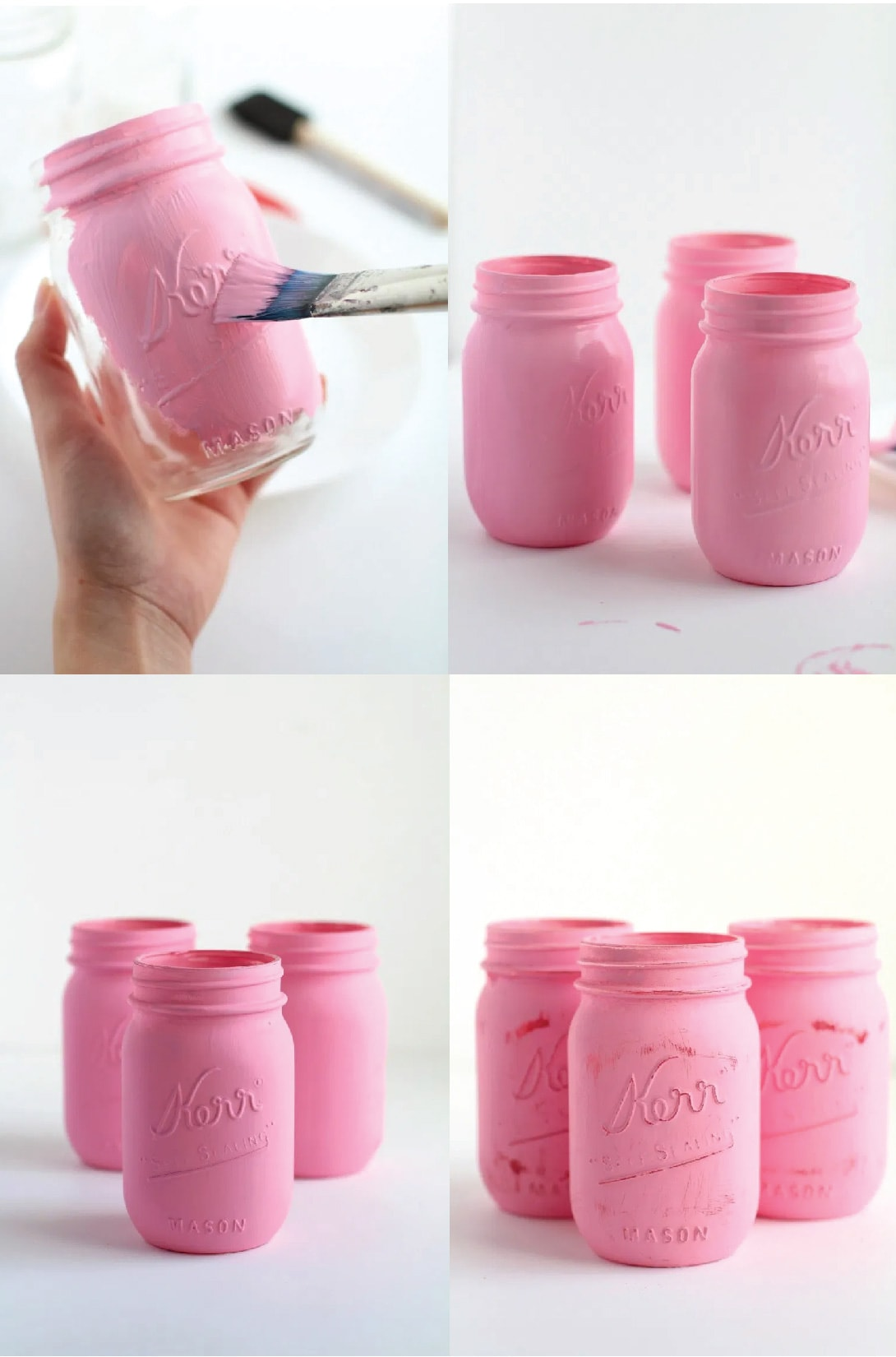 how to paint mason jars with chalk paint step by step