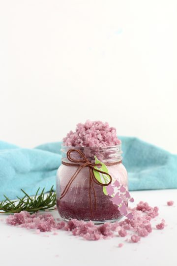diy homemade lavender sugar scrub