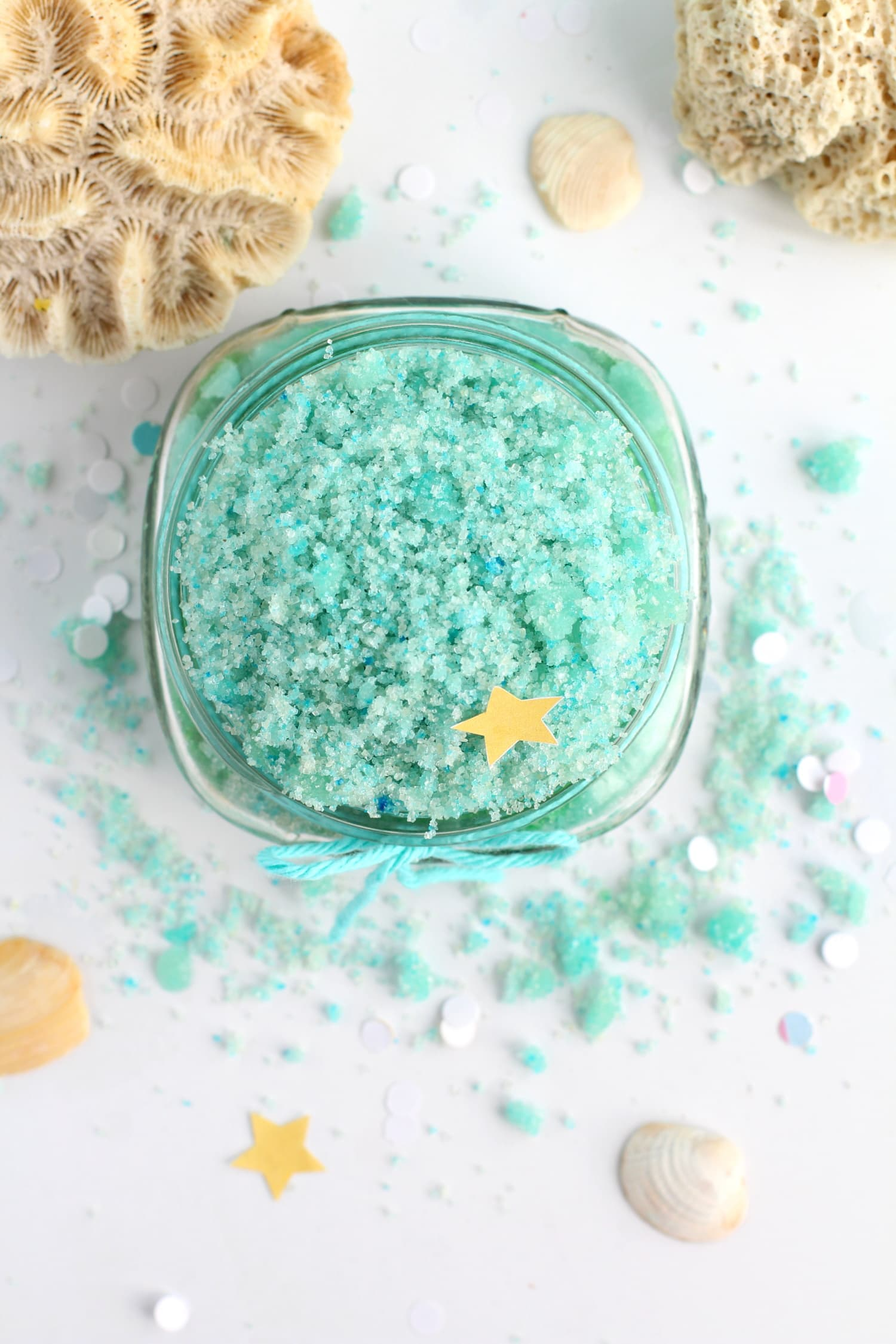 Mermaid sugar scrub DIY