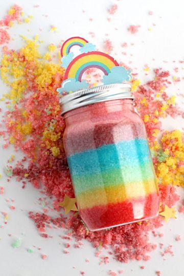 Rainbow sugar scrub | how to make it at home