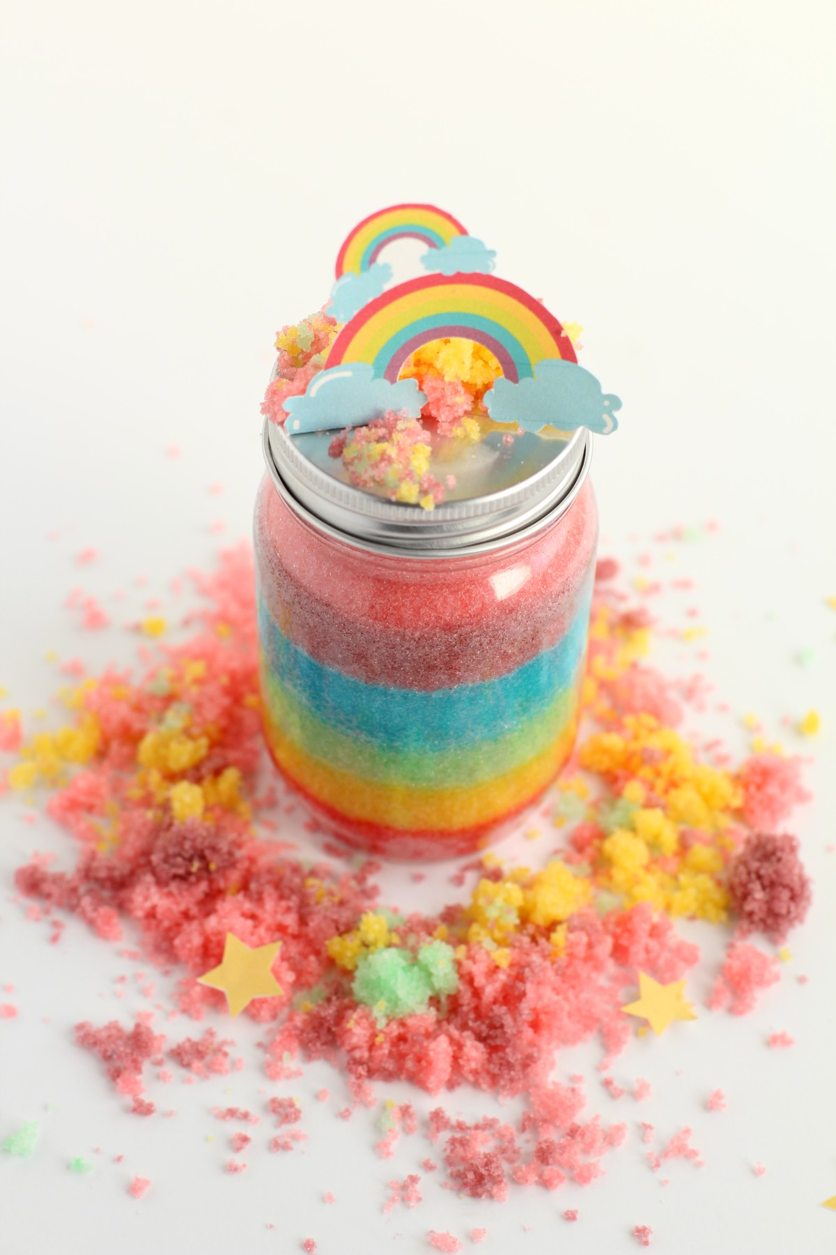 rainbow sugar scrub