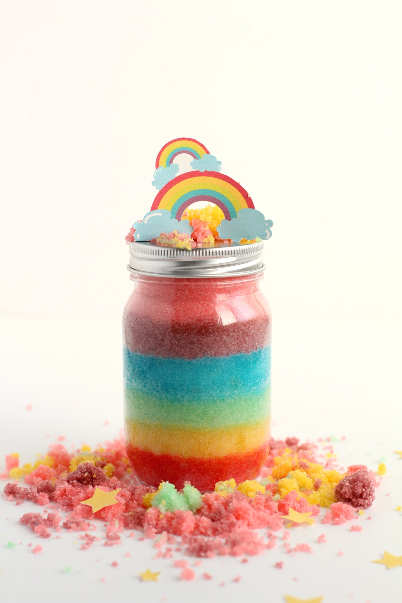 Rainbow sugar scrub recipe